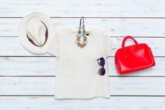 Les vêtements et les accessoires des femmes Photo stock