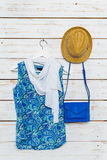 Les vêtements et les accessoires des femmes Images stock