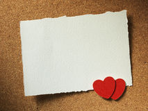 Les vacances cardent avec l'amour et le coeur de mot Photo libre de droits