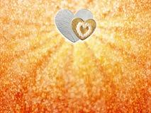 Les vacances cardent avec le coeur comme symbole de l'amour Photo stock