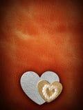 Les vacances cardent avec le coeur comme symbole de l'amour Photographie stock