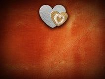 Les vacances cardent avec le coeur comme symbole de l'amour Image stock