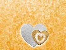 Les vacances cardent avec le coeur comme symbole de l'amour Image libre de droits