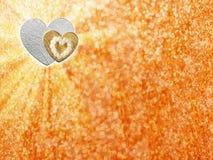 Les vacances cardent avec le coeur comme symbole de l'amour Photo libre de droits