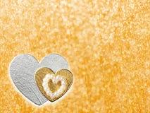 Les vacances cardent avec le coeur comme symbole de l'amour Photos libres de droits