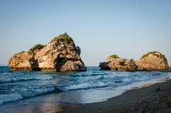 Les vacances d'été de Zakynthos décrivent l'inspiration pendant des vacances sur l'île Images libres de droits