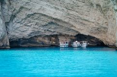 Les vacances d'été de Zakynthos décrivent l'inspiration pendant des vacances sur l'île Photos stock