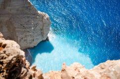 Les vacances d'été de Zakynthos décrivent l'inspiration pendant des vacances sur l'île Photographie stock libre de droits