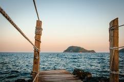 Les vacances d'été de Zakynthos décrivent l'inspiration pendant des vacances sur l'île Image libre de droits