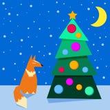 Les vacances d'hiver colorées lumineuses cardent le fond avec le cartoo drôle Images stock