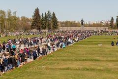 Les vacances de jour de victoire peuvent 9 au mémorial à St Petersburg Images stock