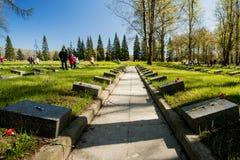 Les vacances de jour de victoire peuvent 9 au mémorial à St Petersburg Photos stock
