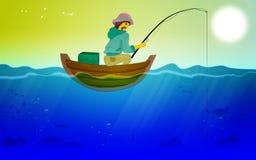 Les vacances de pêcheur Image stock