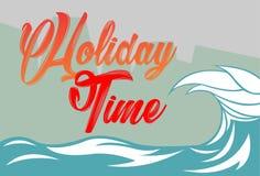 Les vacances de vague illustration stock