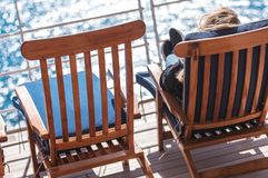Les vacances de voyage en mer détendent Photo libre de droits