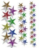 Les vacances encadrent des étoiles Photographie stock libre de droits