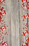 Les vacances nationales du 1er juillet - jour heureux du Canada, f?te du Canada, le concept du patriotisme, l'ind?pendance et m?m photographie stock libre de droits
