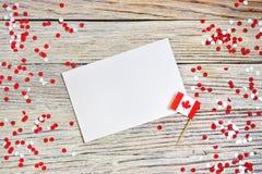 Les vacances nationales du 1er juillet - jour heureux du Canada, f?te du Canada, le concept du patriotisme, l'ind?pendance et m?m image stock