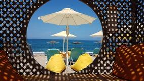 Les vacances par la mer échouent à Prévéza Grèce Images libres de droits