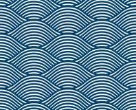 Les vagues d'eau modèle sans couture, courbe de vecteur raye la répétition abstraite illustration stock