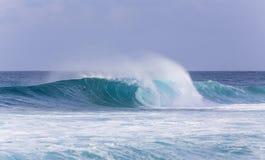 Les vagues de Banzai Pipeline, Hawaï Images stock