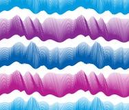 Les vagues modèle sans couture, lignes de courbe de l'eau de vecteur soustraient pour répéter le fond sans fin, vagues rythmiques illustration stock