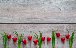 Les valentines cardent avec amour de vacances de coeurs Photos libres de droits