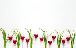 Les valentines cardent avec amour de vacances de coeurs Photographie stock