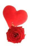 Les Valentines se sont levés Photo stock