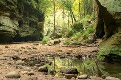 Les vallons inférieurs, parc d'état de Matthiessen Image stock