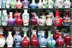 Les vases en céramique chinois Photographie stock libre de droits