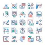 Les vecteurs plats d'Analytics et d'investissement emballent illustration de vecteur