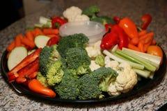 Les veggies et l'immersion sont prêts Photos stock