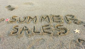 Les ventes d'été de mot Photo libre de droits