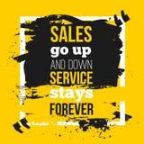 Les ventes de citation vont en haut et en bas, entretiennent l'affiche d'affaires de séjours pour toujours - pour votre mur Faux  Image stock