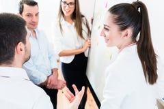 Les ventes Team lors de la réunion d'affaires dans la planification de bureau photo libre de droits