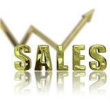 Les ventes vers le haut et se lèvent illustration libre de droits