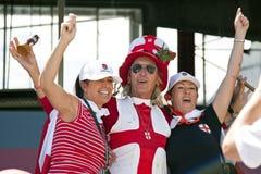 Les ventilateurs anglais de cricket célèbrent les cendres Photo libre de droits