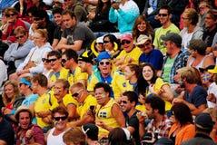 Les ventilateurs suédois à l'Australien s'ouvrent Images libres de droits