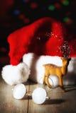 Les verres de Santa Image libre de droits
