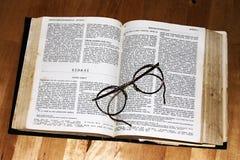Lecture de livres sacrés Photographie stock