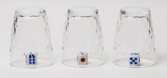 Les verres retournés avec découpe à l'intérieur Photo libre de droits