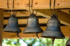 Les vieilles cloches se ferment vers le haut Images libres de droits