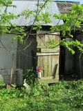 Les vieilles granges sont les bibliothèques des communautés d'exploitation agricole du Mid-West image libre de droits