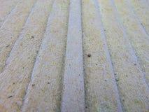 Les vieilles planches en bois se ferment avec le fond de mousse images libres de droits