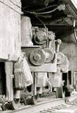 Les vieilles roues de train Images stock