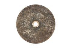 Les vieilles roues pour la circulaire de main ont vu d'isolement sur le fond blanc En acier de meulage d'isolement Meule d'isolem images stock