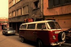 Les vieilles voitures 70 du ` s photo stock