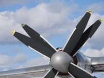 Les vieux avions s'approchent, peau, pièces et éléments de moteur photographie stock