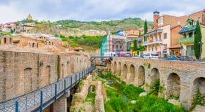 Les vieux bains de soufre à Tbilisi Images libres de droits
